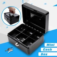 Fashion Cash Box Money Bank Deposit Steel Tin Security Safe Petty Key Lockable*