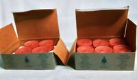 Vintage PartyLite SPICED APPLE Thanksgiving Tealight Candles (V0234) Lot of 22