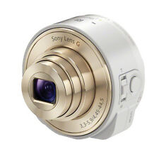 SONY DSC-QX10-W Smartphone Attachable Compact Lens Style Camera -White