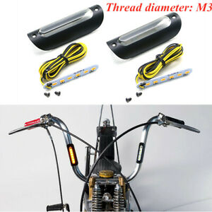 Black Motorcycle Handlebar Lever Turn Signal Directional Light Waterproof Light