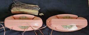 1961 Remco Toys-Empress Princess Rotary Phones #510-Light-Up Dial-Parts/Repair