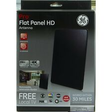GE 33688 Pro Flat Panel HD Indoor Antenna - Black