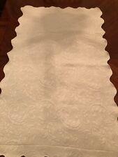 (1) Colchas Domingos Sage Colored Scalloped Edge King Size Pillow Sham - Euc