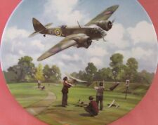 ROYAL DOULTON BLENHEIM ABOVE THE AIRFIELD PLATE HEROES OF THE SKY BOX MIB + CERT