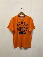 Kooga Men's Rugby Graphic Logo T-Shirt - Large - Orange - New