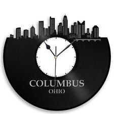 Columbus Ohio Vinyl Wall Clock City Skyline Travel Gift Home Room Office Decor
