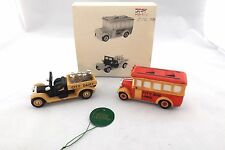 Dept 56 Heritage Village Transport Set Of 2 No. 59838 With Box City Bus & Dairy