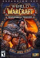 World of War Craft Warlords of Draenor Expansion Set 4 Disc  Mac And PC Complete