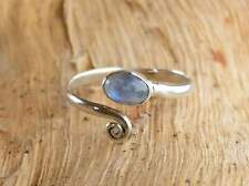 Solid 925 Sterling Silver Toe Ring Rainbow Moonstone Adjustable Toe ring Toering
