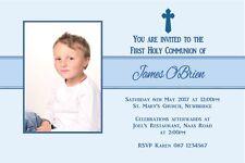 10 Personalised Boy Communion Photo Invitations