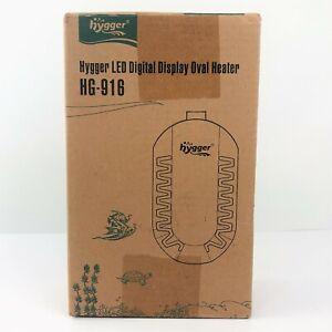 Hygger HG-916 50W LED Digital Display Oval Mini Aquarium Heater - NEW OPEN BOX