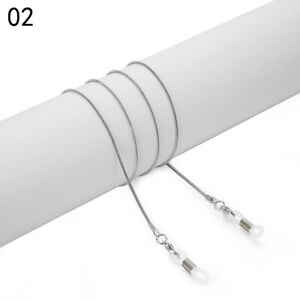 75cm Adjustable Creative Anti-slip Glasses Chain Sunglasses Lanyard Rubber Solid