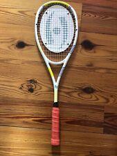 New Harrow Vapor Squash Racquet White Blue Yellow With *Upgraded Grip*
