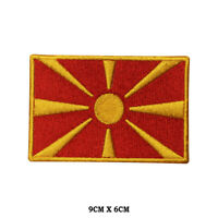 MACEDONIA National Flag Embroidered Patch Iron on Sew On Badge For Clothes etc