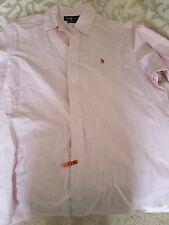 Vintage Polo Dress Shirt Pink Stripes
