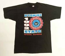 Vintage Screen Stars Best 1992 Wyoming State Basketball 90s 50/50 T-Shirt L USA