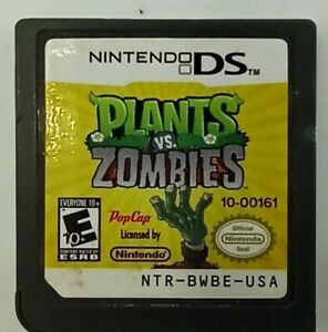Plants vs. Zombies (Nintendo DS, 2011) Game Cartridge, Cleaned & Tested, Works!