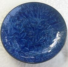"Vintage Estate Arita Imari Signed Japan Leaf Blue White Plate Bowl Salad 7"" EC"