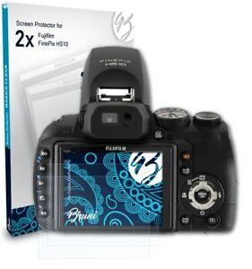 Bruni 2x Folie für Fujifilm FinePix HS10 Schutzfolie Displayschutzfolie