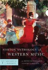 Norton Anthology of Western Music Vol. 1 by Burkholder, J. Peter Burkholder,...