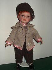 """Deko-Puppe """"Junge"""" Gesicht u. Hände Porzellan,Landhaus-Stil,30cm m.Standfuß,Neu"""