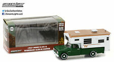 1:64 GreenLight *HOBBY EXCLUSIVE* 1967 Dodge D-100 w/WINNEBAGO SLIDE IN CAMPER