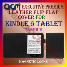 ACM-EXECUTIVE LEATHER FLIP FLAP CASE for KINDLE 6 TABLET FULL & FRONT/BACK COVER