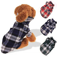 Summer Lattice Pet Clothes Small Dog Plaid Shirts Puppy Clothing Pets Product H