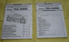 manuale d'uso per boombox Hitachi TRK-W550E