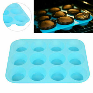 Silicone Large Muffin Yorkshire Pudding Mould Cupcake Baking Tray Cake Pans (12)