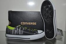 Converse All Star Ox 654219C  Boys Grade School Shoes Size 12.5 Black/Lime NIB