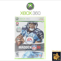 Madden NFL 08 (2007) EA Sports Xbox 360 Video Game With Manual Tested Works C+