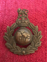 Original Royal Marines RM Cap Badge Military British Army Kings Crown 22/7