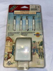 New Lemax Village Collection AC Power Adaptor 4 Jacks