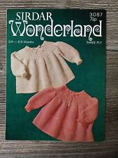 Sirdar Knitting Pattern: Baby Angel Tops, 3ply, 3-9months, 3087