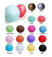 """8"""" 10"""" 12"""" 14"""" 16"""" Paper Lantern Chinese Decoration Wedding Party 5/10 Pack"""