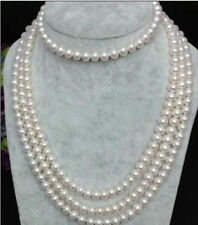 Charming!8-9mm White Akoya Culutred Pearl Long Necklace 80'' free shipping