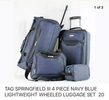 TAG SPRINGFIELD III 4 PIECE NAVY BLUE LIGHTWEIGHT WHEELED LUGGAGE SET  20