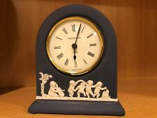 "Wedgwood Jasperware England Portland Blue Small Table Clock Dome 4 3/4"" Vintage"