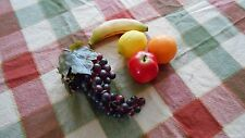 Lot of 5 realistic looking smaller pieces of plastic fruit