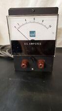 Vintage Jewel Electrical Ac Amperes Meter Measures 0 10 Amps Plug Or Probe Works