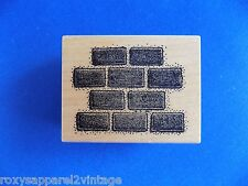 Block Wall Wood Mounted Rubber Stamp Gently Used Mail Expressions 439G