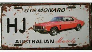 HOLDEN MONARO GTS HJ metal signs Aust Muscle cars man cave 30x15cm FREEPOST