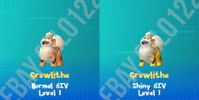 GROWLITHE NORMAL / ⚡SHINY⚡ PERFECT 6IV - POKEMON LETS GO PIKACHU AND EEVEE