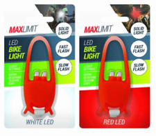 LED Bike Lights Red & White Colour with 3 Light Settings Water Resistant New