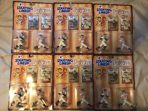 Lot of 6 1989 STARTING LINEUP RUTH & GEHRIG (RARE WHITE/WHITE) - BASEBALL GREATS