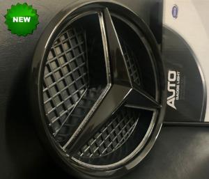 Schwarz Stern Grille Emblem Weiße LED beleuchtet Abzeichen für Benz A B C E CLS