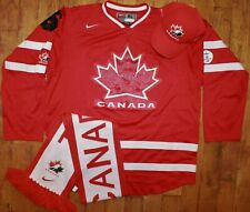 2010 Nike Team Canada Rick Nash #61 Vancouver Olympic Jersey +  Scarf + Hat