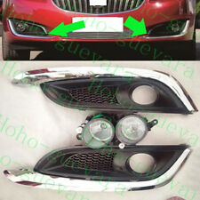 4pcs For Buick Regal 2014-2016 Car Front Bumper Fog Light Lamp Cover With Bulbs