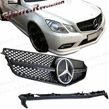 For 10-13 W207 C207 E350 E500 SL Style All Gloss Black DTR Cover Front Grille